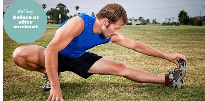 Stretching before or after workout