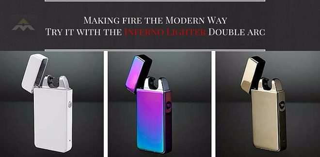 Making fire the Modern Way - Try it with the Inferno Lighter Double arc